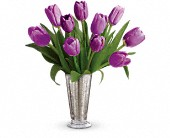 Tantalizing Tulips Bouquet by Teleflora in Pella IA, Thistles