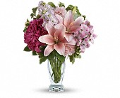 Teleflora's Blush Of Love Bouquet in Edmonton AB, Petals For Less Ltd.
