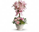 Teleflora's Blushing Lilies in Chicago IL, Wall's Flower Shop, Inc.