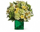 Teleflora's Emerald Elegance Bouquet in Burlington WI, gia bella Flowers and Gifts