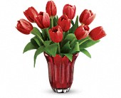 Teleflora's Kissed By Tulips Bouquet in Beaumont TX, Blooms by Claybar Floral