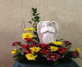 peaceful angel in Rock Island IL, Colman Florist