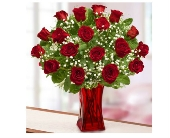 Blooming Love™ Premium Red Roses in Red Vase dans Watertown CT, Agnew Florist
