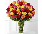EFLORIST 36 MULTI COLORED ROSES in Staten Island NY, Eltingville Florist Inc.