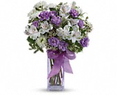 Teleflora's Lavender Laughter Bouquet in Cerritos CA, The White Lotus Florist
