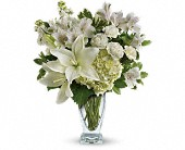 Teleflora's Purest Love Bouquet in Canton NY, White's Flowers