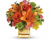 Teleflora's Tropical Punch Bouquet in Ammon ID, Petal Passion