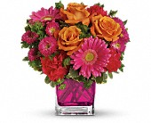 Teleflora's Turn Up The Pink Bouquet in Menomonee Falls WI, Bank of Flowers