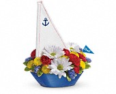 Teleflora's Anchors Aweigh Bouquet in Waldron AR, Ebie's Giftbox & Flowers