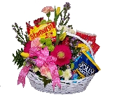 Flower And Candy Basket in Wading River NY, Forte's Wading River Florist
