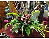 Burgundy Silk Arrangement in New Castle PA, Butz Flowers & Gifts