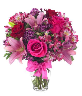 ROSES AND LILIES DELIGHT BOUQUET in Vienna, Virginia, Vienna Florist & Gifts