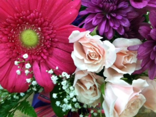 Pink and Purple Fresh Cut Bouquet in Manalapan NJ, Rosie Posies