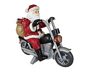 Santa on Motorcycle in San Antonio TX, Best Wholesale Christmas Co