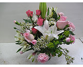 Mixed Pink Roses, Lilys, Other Pink Flowers in Blue Bell PA, Country Flower Shoppe