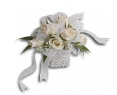 White Whisper Wristlet in Norwalk CT, Richard's Flowers, Inc.