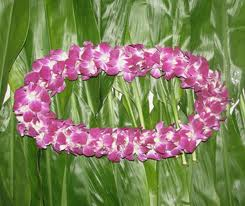 Purple Double Bloom Dendro Lei in Orem UT, Orem Floral & Gift