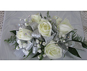 White and Silver in Katy TX, Kay-Tee Florist on Mason Road