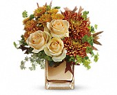 Teleflora's Autumn Romance Bouquet in Burlington WI, gia bella Flowers and Gifts