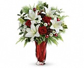 Teleflora's Christmas Swirl Bouquet in Liverpool NS, Liverpool Flowers, Gifts and Such
