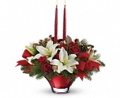 Teleflora's Crimson Glow Centerpiece in Watertown NY, Sherwood Florist