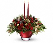Teleflora's Holiday Flair Centerpiece in Aston PA, Wise Originals Florists & Gifts