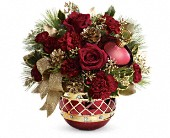 Teleflora's Jeweled Ornament Bouquet in Orlando FL, Elite Floral & Gift Shoppe