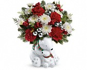 Teleflora's Send a Hug Cuddle Bears Bouquet in Orlando FL, Elite Floral & Gift Shoppe