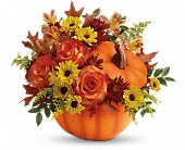 Teleflora's Warm Fall Wishes Bouquet in San Jose CA, Rosies & Posies Downtown