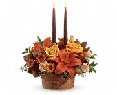 Teleflora's Wrapped In Autumn Centerpiece in Royal Oak MI, Rangers Floral Garden