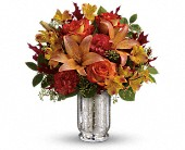 Teleflora's Fall Blush Bouquet in Burlington WI, gia bella Flowers and Gifts