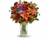 Teleflora's Fall Brights Bouquet in Burlington WI, gia bella Flowers and Gifts