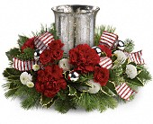 Teleflora's Holly Jolly Centerpiece in Hamilton ON, Joanna's Florist