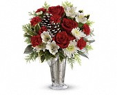 Teleflora's Timeless Cheer Bouquet in Burlington WI, gia bella Flowers and Gifts