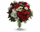Teleflora's Winter Kisses Bouquet in Beaumont TX, Blooms by Claybar Floral