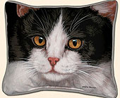 Black & White Cat Pillow<br>$28.99 in Westerville OH, Reno's Floral