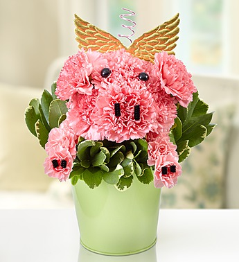 1 800 Flower- Piggy Flower Pail in Woodbridge VA, Lake Ridge Florist