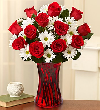 1 800 Flower- Fair Trade Red Roses and White Daisi in Woodbridge VA, Lake Ridge Florist