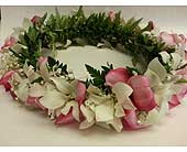Orchid with Pink Plumeria Haku Head Lei in Kihei HI, Kihei-Wailea Flowers By Cora