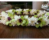 Double Tuberose with Green Orchids in Kihei HI, Kihei-Wailea Flowers By Cora