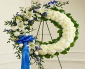 1 800 Flowers-Serene Blessings in Blue and White in Woodbridge VA, Lake Ridge Florist