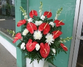 anthurium arrangement in Waipahu, Hawaii, Waipahu Florist