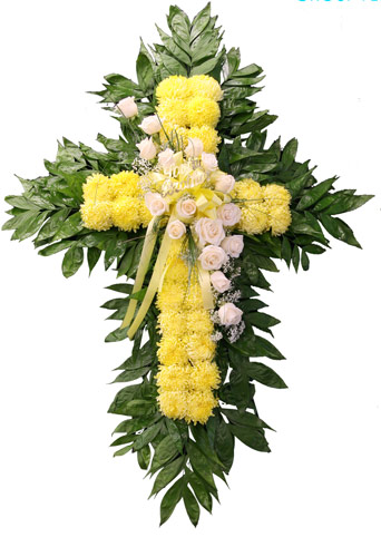Steve's Yellow Cross Spray in Indianapolis IN, Steve's Flowers and Gifts