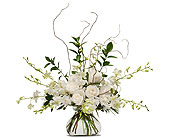 White Elegance in Timmins ON, Heartfelt Sympathy Flowers
