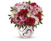 Teleflora's Happy Hearts Bouquet in Greenwood IN, The Flower Market