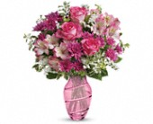 Teleflora's Pink Bliss Bouquet in Edmonton AB, Petals For Less Ltd.