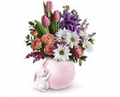 Teleflora's Send a Hug Bunny Love Bouquet in Oakland CA, Lee's Discount Florist