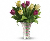 Teleflora's Singing Of Spring Bouquet in Rush NY, Chase's Greenhouse