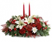 Yuletide Magic Centerpiece in East Amherst NY, American Beauty Florists