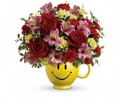 So Happy You're Mine Bouquet by Teleflora in Pella IA, Thistles